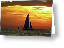 Sunset Sail Away Greeting Card
