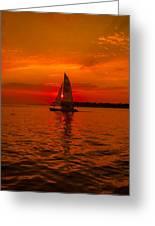 Sunset Sail Greeting Card