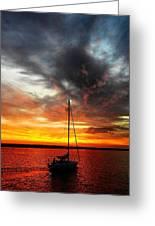 Sunset Sailboat Greeting Card