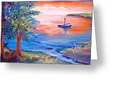 Sunset Sailing Greeting Card
