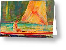 Sunset Sailor 2 Greeting Card