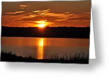 Sunset Salisbury Mass Greeting Card