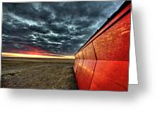 Sunset Saskatchewan Canada Greeting Card