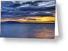 Sunset Seascape Alaska Greeting Card