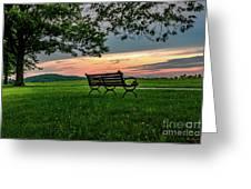 Sunset Seating Greeting Card