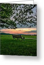 Sunset Seating Portrait Greeting Card