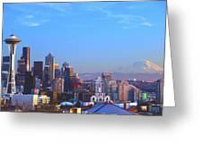 Sunset Seattle Greeting Card