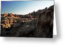 Sunset Shadows In The Badlands Greeting Card
