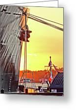 Sunset Ship Greeting Card