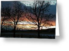 Sunset Silhouettes Greeting Card