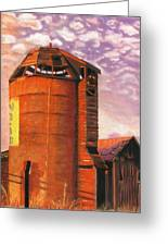 Sunset Silo Greeting Card