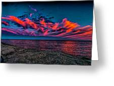 Sunset Sky At East Point Greeting Card