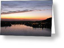 Sunset South Of The Border Greeting Card