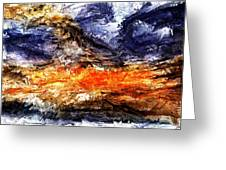 Sunset Storm Greeting Card