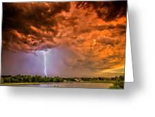 Sunset Strike Greeting Card