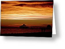 Sunset Stroll Along The Beach 2582 H_2 Greeting Card