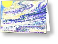 Sunset-sun And Sea Meeting Greeting Card