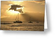 Sunset Surfer Greeting Card