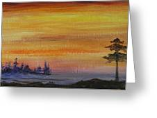 Sunset Symphony Greeting Card