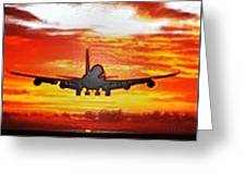 Sunset Take Off Greeting Card