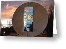 Sunset Thru Art Greeting Card
