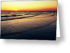 Sunset Time On Sunset Beach Greeting Card