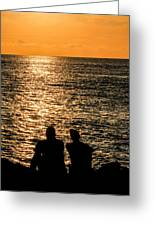 Sunset Together In Key West Greeting Card
