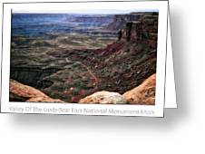 Sunset Tour Valley Of The Gods Utah Text 04 Greeting Card