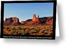 Sunset Tour Valley Of The Gods Utah Text 09 Black Greeting Card