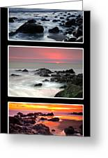 Sunset Triptych Greeting Card