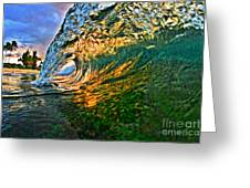 Sunset Tube Greeting Card by Paul Topp