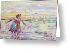 Sunset Twirling Greeting Card