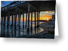 Sunset Under The Ventura Pier Greeting Card