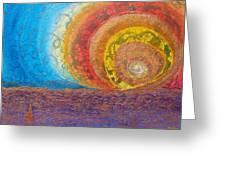 Sunset Unfurls Over Purple Sea Greeting Card