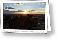 Sunset Valley Of The Gods Utah 01 Text Greeting Card