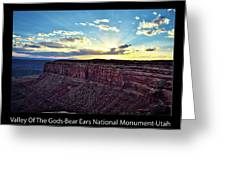 Sunset Valley Of The Gods Utah 03 Text Black Greeting Card