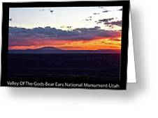 Sunset Valley Of The Gods Utah 05 Text Black Greeting Card