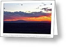 Sunset Valley Of The Gods Utah 05 Text Greeting Card