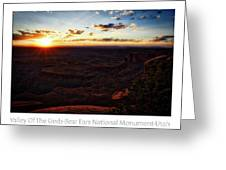 Sunset Valley Of The Gods Utah 11 Text Greeting Card