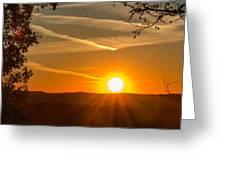 Sunset Vienna West Virginia Greeting Card