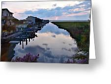 Sunset View At The Art League Of Ocean City - Maryland Greeting Card