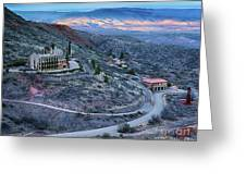 Sunset View From Jerome Arizona Greeting Card