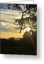 Sunset View From Olana  Greeting Card