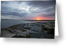 Sunset View From Sandy Neck Light Greeting Card