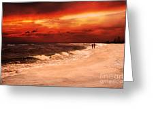 Sunset Walk Greeting Card