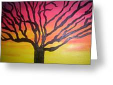 Sunset Wanderer Greeting Card