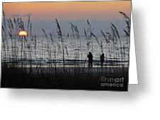 Sunset Watching Greeting Card