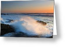 Sunset Wave Explosion Greeting Card