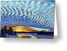 Sunset Waves Nite Greeting Card