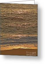 Sunset Waves Over Carmel Beach Greeting Card